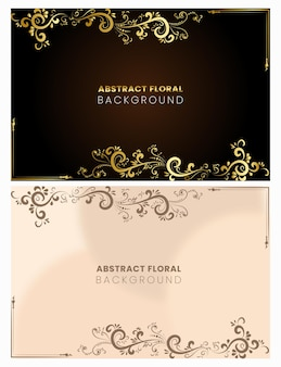 Flower abstract design background