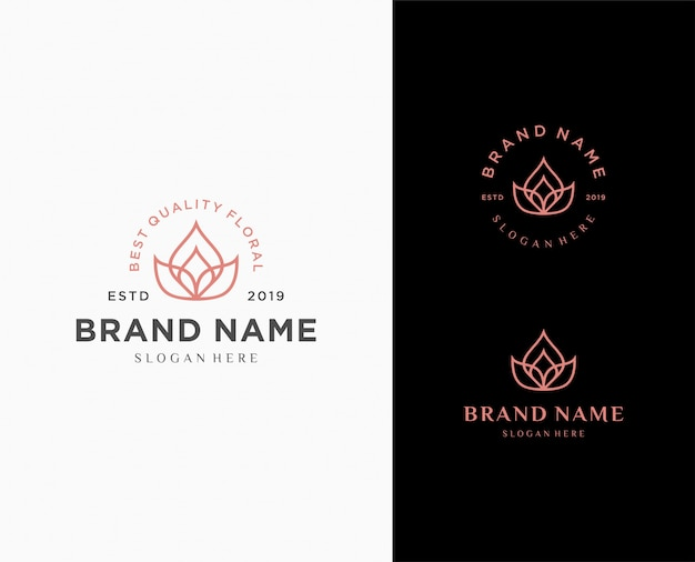 Flower abstract logo template