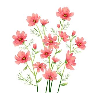 꽃과 나비 그리기 디자인