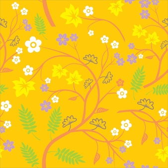 Flower and Leaf Background Theme