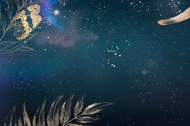 꽃 배경 미적 테두리 벡터, 빈티지 공개 이미지에서 리믹스