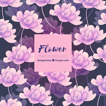 Flower background in watercolor style