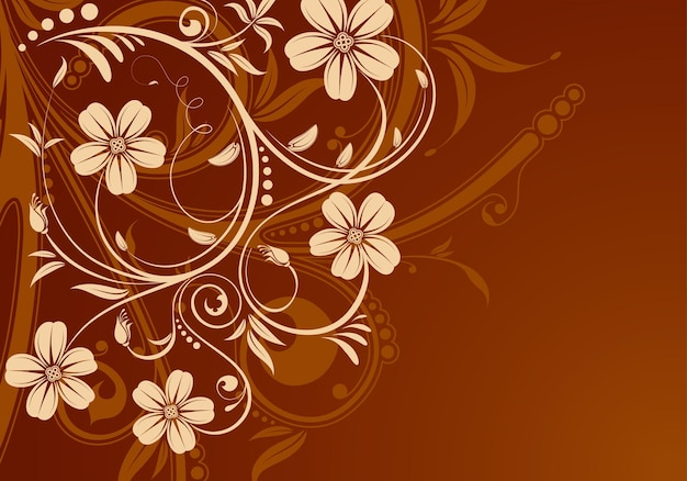 꽃 봉오리, 디자인 요소, 벡터 일러스트와 함께 꽃 배경