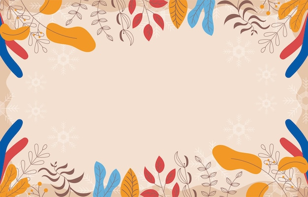 Flower background with copy space