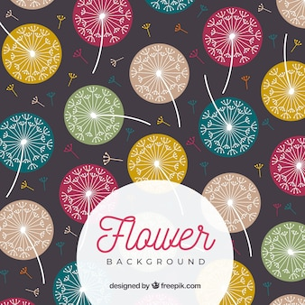 Flower background with different species