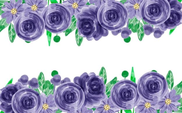 水彩で花の背景