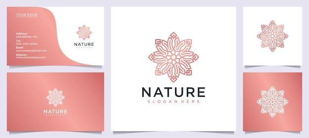 サロンのための花の美しさのロゴのデザインのインスピレーション