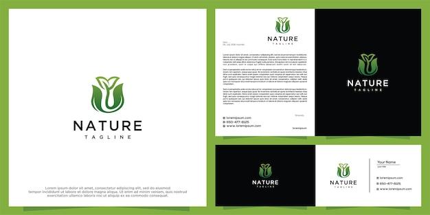 Flower beauty logo design template