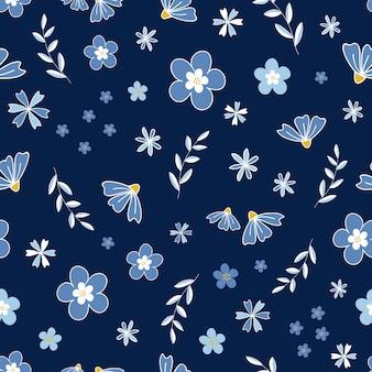 Flower blossom garden vector pattern