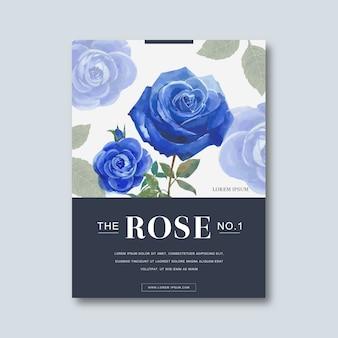 Flower blossom poster decorative invitation