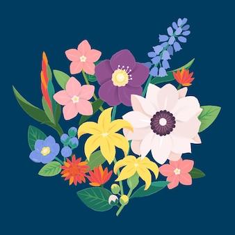 꽃 꽃 빈티지 화려한 컬렉션
