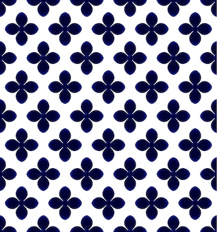 Flower blue and white pattern