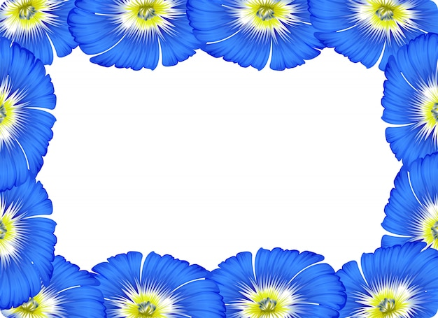 Flower border card concept background