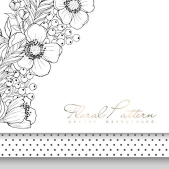 Bordo del fiore che disegna bianco e nero
