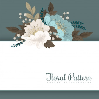 Flower border template  mint floral