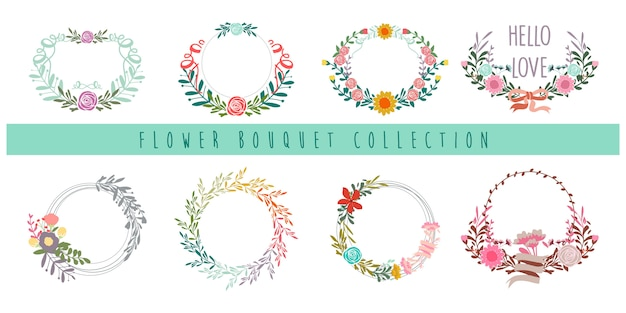 Flower bouquet collection