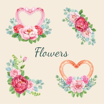 幸せな母の日のための花束