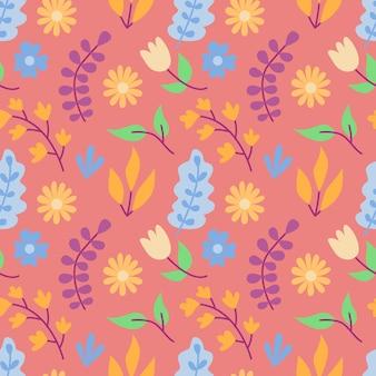 Flower bouquet seamless pattern background