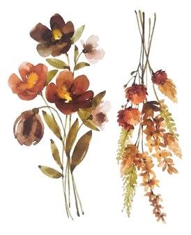 꽃다발 수채화