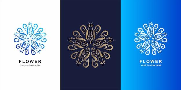 花、ブティックまたは装飾品のロゴのテンプレートデザイン。