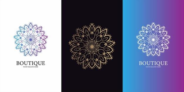 꽃, 부티크 또는 장식 로고 템플릿 디자인.