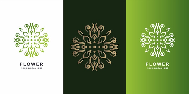 Flower, boutique or ornament logo template design.