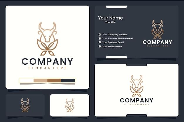 Flower bull , logo design inspiration