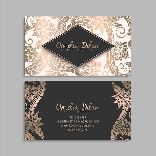 Flower business card template