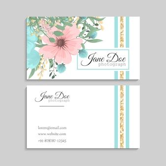 Цветочные визитки синих цветов