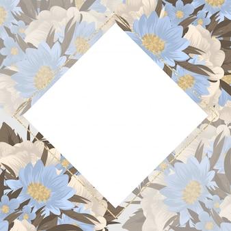 Flower business cards blue flowers