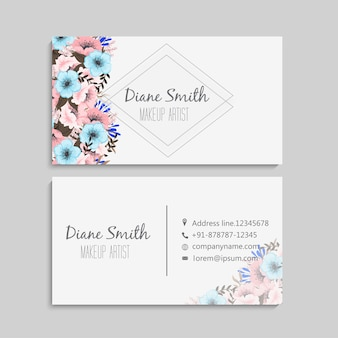 Цветочные визитки пастельные цветы