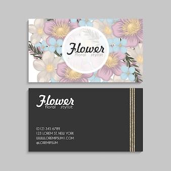 꽃 명함 핑크 꽃