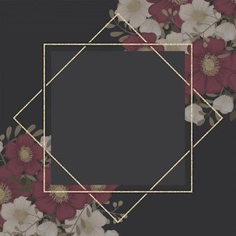 花名刺赤い花