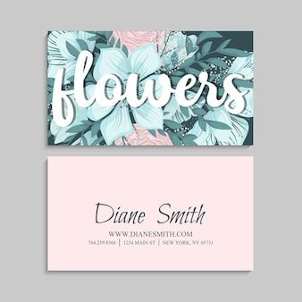 Modello di biglietti da visita fiore