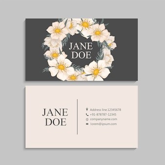 Flower business cards template