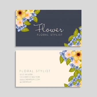꽃 명함 노란색 꽃