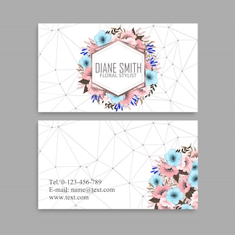 Flower business cards