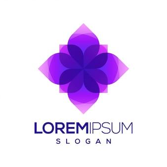 Цветочный красочный логотип с градиентом
