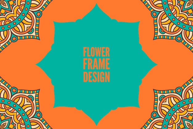 Cornice ornamentale rotonda colorata di fiori