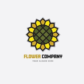 Flower company logo design