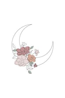 Flower crescent moon