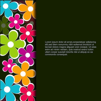 Flower design with space for your text