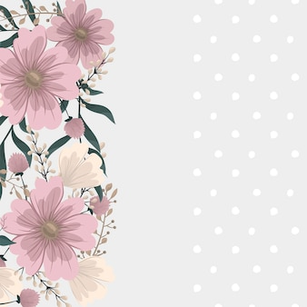 Flower designs border - pink flowers