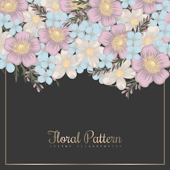 Flower designs border - spring flowers