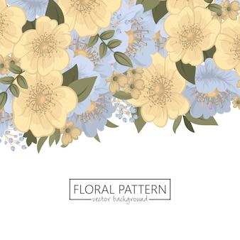 花柄ボーダー-春の花