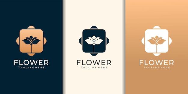 花ファッション自然ロゴデザイン