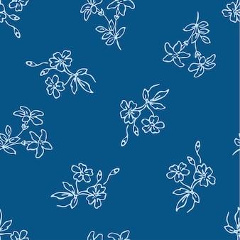 Цветочная мода текстуры фона дизайн шаблон печати.