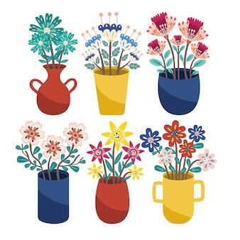 꽃 꽃 여름 봄 잎 색상 식물 꽃 야생 컬렉션 꽃 식물 식물 꽃병 관엽 식물
