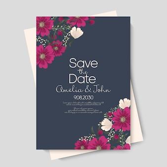 結婚式テンプレートの花