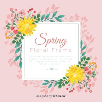 Flower frame spring background